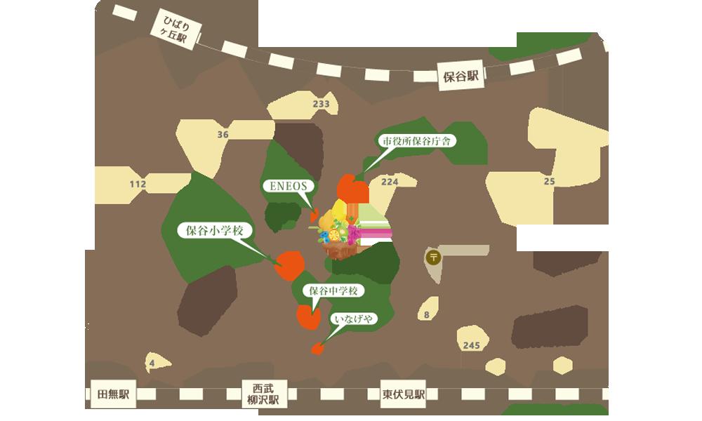 貫井果樹園アクセス地図
